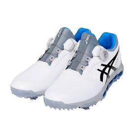 最大10%OFFクーポン【スーパーSALE限定】 アシックス ゲルエース プロ X ボア TGN922 メンズ ゴルフ ダイヤル式スパイクシューズ GEL-ACE PRO X Boa ホワイト×ブルー asics