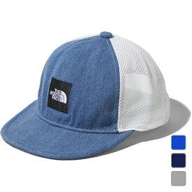 2021春夏 ノースフェイス ジュニア キッズ・子供 帽子 Kids Square Logo Mesh Cap キッズスクエアロゴメッシュキャップ NNJ02001 THE NORTH FACE