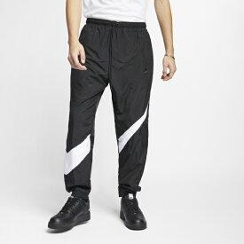 ナイキ メンズ アルペン・スポーツデポ限定 ウインドロングパンツ ナイキ HBR STMT ウーブン パンツ AR9895 010 : ブラック×ホワイト NIKE