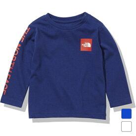 2021春夏 ノースフェイス ジュニア キッズ 子供 長袖Tシャツ L/S Small Square Logo Tee L/Sスモールスクエアロゴティー NTJ82021 THE NORTH FACE