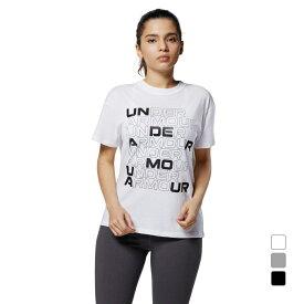 アンダーアーマー レディース 半袖Tシャツ UA Cotton Box Graphic Tee 1364218 スポーツウェア UNDER ARMOUR 0529T 21clearance