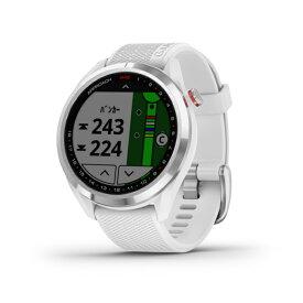 ガーミン S42 ゴルフ 距離測定器 クラブ番手の記録をサポートするオートショット機能搭載 White/Silver 距離計 時計 GPS ナビ みちびき GARMIN