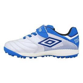 アンブロ アクセレイタ- SB JR WIDE ワイド JR トレーニングシューズ UU4RJB04WB ジュニア(キッズ・子供) サッカー 3E : ホワイト×ブルー UMBRO