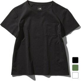 2021春夏 ノースフェイス レディース アウトドア 半袖Tシャツ S/S Airy Pocket Tee ショートスリーブエアリーポケットティー NTW11968 THE NORTH FACE