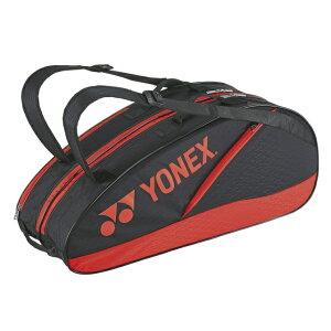 【4/20限定】買えば買うほど★最大10%OFFクーポン ヨネックス ラケットバック6 リュック付 BAG2132R テニス ラケットバッグ : ブラック×レッド YONEX