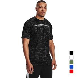 【10/18】買えば買うほど★最大10%OFFクーポン アンダーアーマー メンズ 半袖機能Tシャツ UA TECH ABC CAMO SS 1361698 スポーツウェア UNDER ARMOUR 0529T 21clearance 21summersale