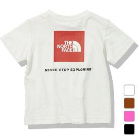 2021春夏 ノースフェイス キッズ ベビー 半袖Tシャツ B S/S Square Logo Tee ベビーショートスリーブスクエアロゴティー NTB32142 THE NORTH FACE