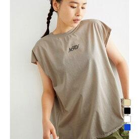 【7/30〜8/2】 買えば買うほど★ 最大10%OFFクーポン レディース 半袖Tシャツ ロゴボックスタックTEE NJM-01180 スポーツウェア ヨガウェア 0529T
