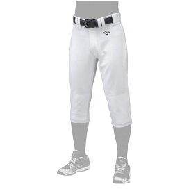 ミズノ メンズ 野球 練習着 練習用 ウェア パンツ ガチ GACHI ユニフォーム レギュラー タイプ (ヒザ2重) (12JD9F60) : ホワイト MIZUNO