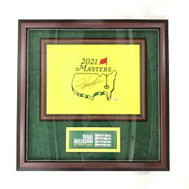 【10/23〜25】買えば買うほど★ 最大10%OFFクーポン 数量限定 松山英樹 直筆サイン入りピンフラッグ 2021マスターズ (2921FW0001) シリアルナンバー付き ゴルフ アクセサリー