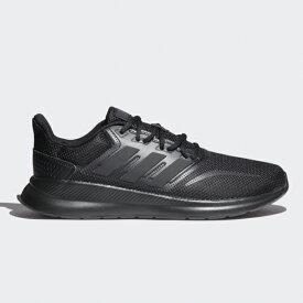 アディダス FALCONRUN M (G28970) メンズ 陸上/ランニング ランニングシューズ : ブラック×ブラック adidas 19clearanceshoes 191011running