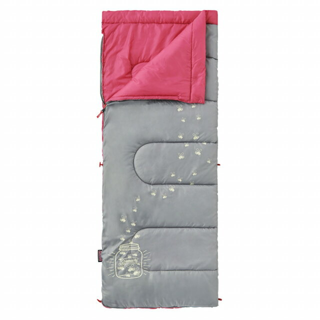 コールマン グローナイトキッズ/C7 (ピーチ) (2000022263) ジュニア(キッズ・子供) キャンプ シュラフ 寝袋 封筒型 Coleman