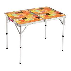 【7/5はエントリーでP10倍!】 コールマン ナチュラルモザイクリビングテーブル/90プラス (2000026752) キャンプ テーブル Coleman