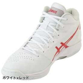 アシックス ゲル フープ GELHOOP V11 1061A015 バスケットボール シューズ : ホワイト×レッド レギュラー バッシュ 白 asics