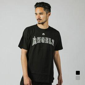 マジェスティック メンズ 野球 半袖Tシャツ エンゼルス大谷 カモ柄プリントTシャツ (MM08LA9002) MAJESTIC