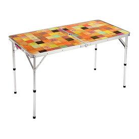コールマン テーブル 4〜6人用サイズ 二つ折り コンパクト収納 高さ調整 ナチュラルモザイクリビングテーブル/120プラス (2000026751) アウトドアテーブル キャンプ バーベキュー 山