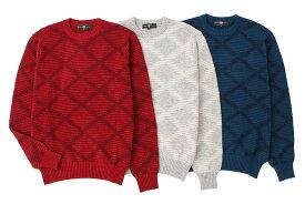 《送料無料》1897年創業アルファー【ALPHA】日本製アルパカ混メンズ・クルーネックセーター