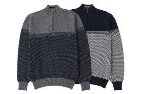 《送料無料》1897年創業アルファー【ALPHA】日本製アルパカ混メンズ・ジップアップセーター