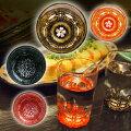 -AMANO-螺鈿ガラス「ショットグラス金桜(黒・朱)貝ちらし(黒・朱)」