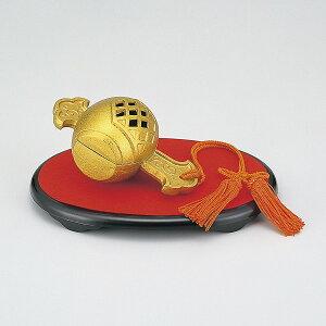 香炉 高岡銅器 伝統美術 小槌「打出小槌香炉」鉄製 PC小判台付 化粧箱入 15×8×8cm 163-11