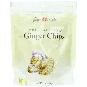 ジンジャーピープル ジンジャーチップ ショウガ 生姜 The Ginger People Crystallized Ginger Chips 198g×2袋セット