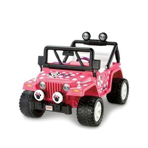 【組立要】フィッシャープライス ディズニーミニーマウスジープ 電動自動車 12Vバッテリー付 電気自動車 電動カー Fisher-Price Power Wheels Girls' Disney Minnie Mouse Jeep 12-Volt Battery-Powered Ride-On