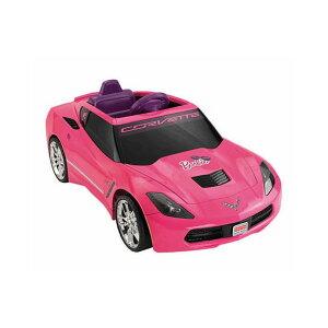【組立要】フィッシャープライス ガールズバービーコルベット 電動自動車 12Vバッテリー付 対象年齢3才〜 電気自動車 電動カー Fisher-Price Power Wheels Girls' Barbie Corvette 12-Volt Battery-Powered Ride-On