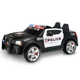 【組立要】キッドトラックス パトカー 12Vバッテリー付 電動自動車 電気自動車 電動カー Kid Trax 12V Charger Police Car