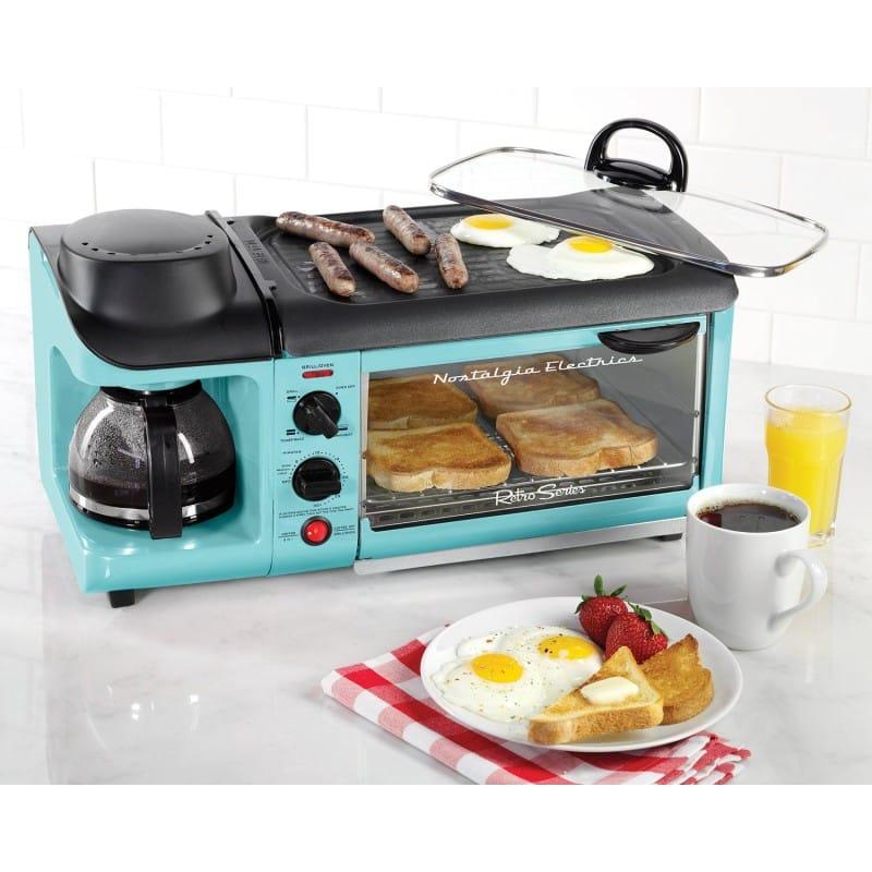 朝食準備セット オーブン トースター ホットプレート ノスタルジア レトロシリーズ カリフォルニア 西海岸 クラシック ビンテージNostalgia 3-in-1 Breakfast Station BSET300