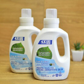 セブンスジェネレーション 液体洗濯洗剤4倍濃縮 53回分 1.18L 4本セットSeventh Generation Liquid Laundry 4x