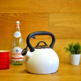 クイジナート ホーロー笛吹きケトル 2L 白 IH対応 Cuisinart Valor 2 Qt. Tea Kettle - White CTK-EOSTRW