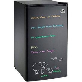 メッセージボード付 イグルー コンパクト 冷蔵庫 85L Igloo FR326M-D-BLACK Erase Board Refrigerator 家電