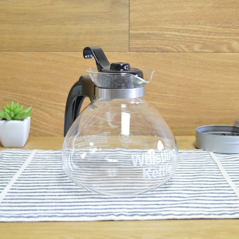 耐熱ガラス メデルコ 笛吹き ガラスケトル やかん 直火用 Medelco 1.8L WK112 Glass Kettle