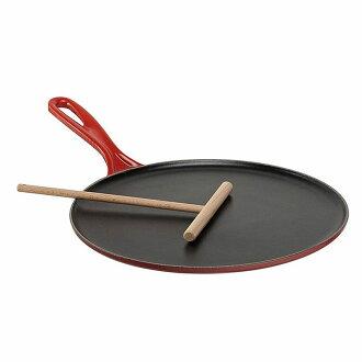 rukuruze 27cm可麗餅麵包Le Creuset Enameled Cast-Iron 10-2/3-Inch Crepe Pan