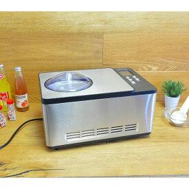 アイスクリームメーカー コンプレッサー内蔵 2.0L 自家製 Whynter ICM-200LS Stainless Steel Ice Cream Maker, 2.1-Quart 家電