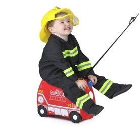 トランキ 子供用スーツケース 消防車 赤 レッド 乗って遊べる 座れる 機内持ち込み おもちゃ箱 Trunki The Original Ride-On Frank Suitcase, Red
