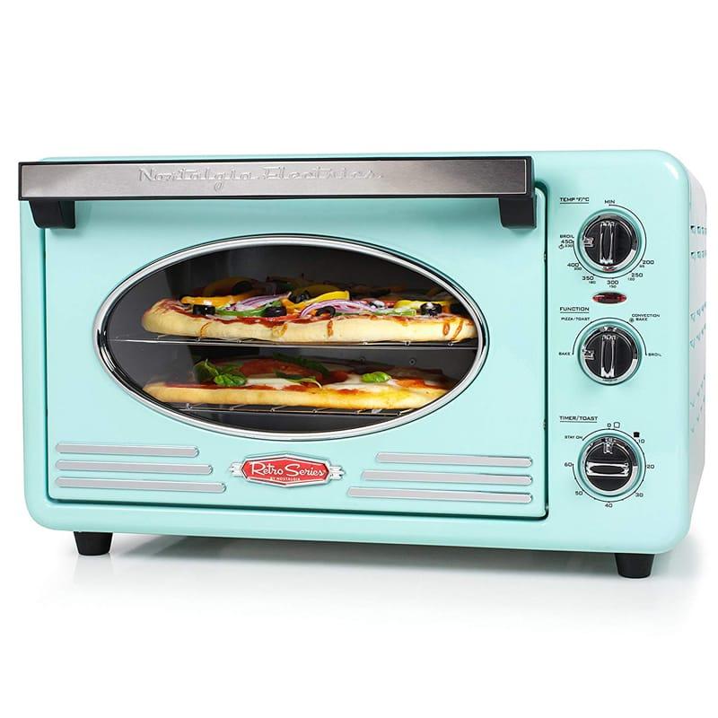 ノスタルジア レトロ コンベクション トースターオーブン Nostalgia RTOV220AQ Retro 12-Slice Convection Toaster Oven