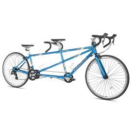 タンデム ロードバイク 二人乗り自転車 ジョルダーノ ビアッジョ ブルー 青 Giordano Viaggio Tandem Azure Blue【代引不可】【組立要】