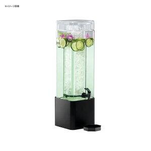 ドリンクサーバー スクエア型 ガラスドリンクディスペンサー 11L アイスチャンバー メタルスタンド付 レストラン カフェ ホテル Cal-Mil 1112-3-13 3 Gallon Mission Square Glass Beverage Dispenser with Black Meta