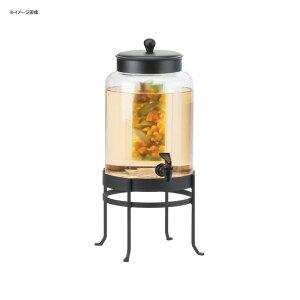 ドリンクサーバー ガラスドリンクディスペンサー 7.5L インフューザー ワイヤースタンド付 レストラン カフェ ホテル Cal-Mil 1580-2INF-13 2 Gallon Black Soho Glass Beverage Dispenser with Infusion Chamber 21115802I