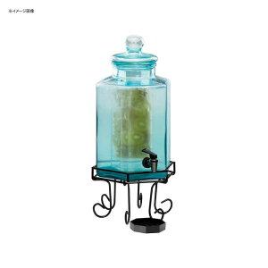 ドリンクサーバー ブルーガラスドリンクディスペンサー 7.5L インフューザー ワイヤースタンド付 レストラン カフェ ホテル Cal-Mil 1111INF 2 Gallon Glass Beverage Dispenser with Wire Base and Infusion Chamber 21