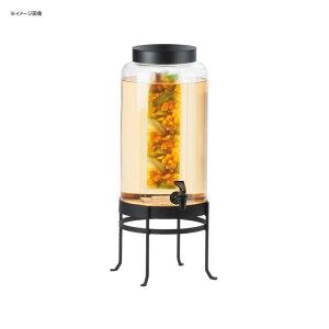 ドリンクサーバー ガラスドリンクディスペンサー 11L インフューザー ワイヤースタンド付 レストラン カフェ ホテル Cal-Mil 1580-3INF-13 3 Gallon Black Soho Glass Beverage Dispenser with Infusion Chamber 21115803IN