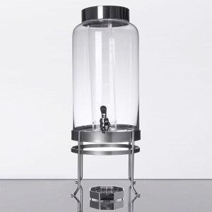 ドリンクサーバー ガラスドリンクディスペンサー 11L インフューザー ワイヤースタンド付ガラスドリンクディスペンサー レストラン カフェ ホテル Cal-Mil 1580-3INF-74 3 Gallon Silver Soho Glass Beverage