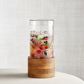 ドリンクサーバー スタンド付 ガラス ディスペンサー ステンレス蛇口 木 大理石 5.6L レストラン カフェ ホテル Cold Drink Dispenser