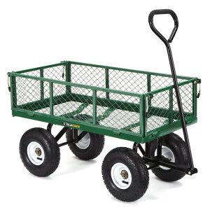 ガーデンカート キャリーカート ワゴン サイド取り外し可 スチールメッシュ ゴリラカート Gorilla Carts GOR400-COM Steel Garden Cart with Removable Sides, 400-lbs. Capacity, Green