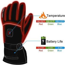 冬の自転車バイクの指が寒い!電気で暖める手袋 ヒーターグローブ 充電式ウオーマー ぬくぬくコードレス電気手袋 HEAT WARMER Men Women Winter Rechargeable Battery Heated Gloves Electric Heat Gloves Kit,Sports Outdoor Thermal Insulate Gloves,Touchscreen