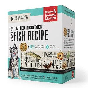 お湯で戻す 乾燥ドッグフード 米国製 オーガニック ヒューマングレード 7.2kg分 穀物フリー フィッシュ ココナッツ かぼちゃ The Honest Kitchen Dehydrated Grain Free Limited Ingredient Dog Food Fish & Coconut 4lb