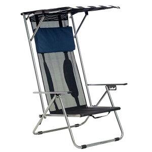 折りたたみ イス ビーチチェア 日除け付 サンシェード リクライニング 背もたれ高い アウトドア キャンプ 海 フェス Quik Shade Beach Recliner Shade Chair