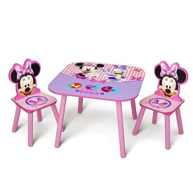 子供用 テーブル チェアー ミニーマウス ディズニー 椅子 幼児Delta Children Kids Table and Chair Set (2 Chairs Included), Disney Minnie Mouse