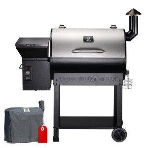 ペレット用 グリル 電気スモーカー 燻製機 温度調節 ステンレス バーベキュー ロースト ベイク Z GRILLS ZPG-7002E 2020 Upgrade Wood Pellet Grill & Smoker, 8 in 1 BBQ Grill Auto Temperature Control, inch Cooking Area, 700 s